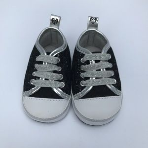 Other - NWOT black glittery converse style baby shoes